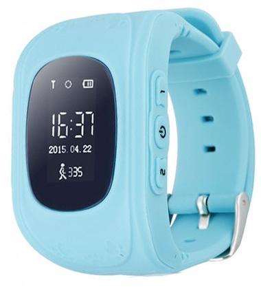 Детские часы -телефон c GPS Q50 Синие