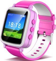 Детские часы-телефон с GPS Q60 - Розовые