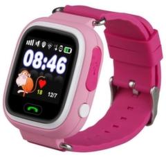 Детские часы-телефон с GPS Q90 - Розовые