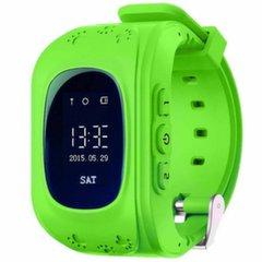 Детские часы-телефон с GPS Q50 - Зеленые