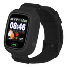 Детские часы-телефон с GPS Q90 - Черные